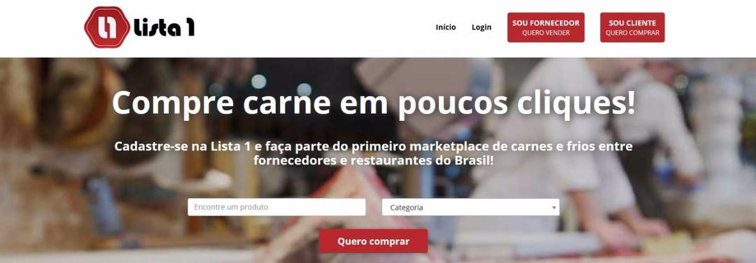 Lista 1 – Marketplace B2B para food service